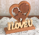 Valentine Heart Woodcraft Pattern