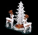 Mini Elegant Deer & Tree Woodcraft Pattern