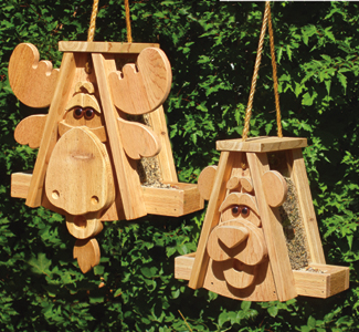 bird critter houses feeders cedar moose bear bird