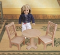Doll Pedestal Table & Chair Plans Woodcraft Pattern