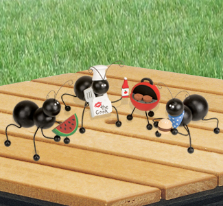 Picnicking Ants BBQ Set Pattern