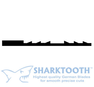 SHARKTOOTH <BR>Scroll Saw BLades <br>Reverse Tooth - Plain End