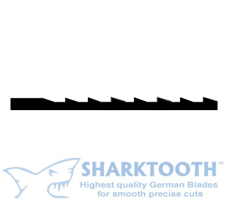 SHARKTOOTH <BR>Scroll Saw Blades <br>Skip Tooth - Plain End