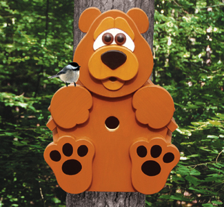 All Bear Cub Tree Dweller Birdhouse Woodcraft Pattern
