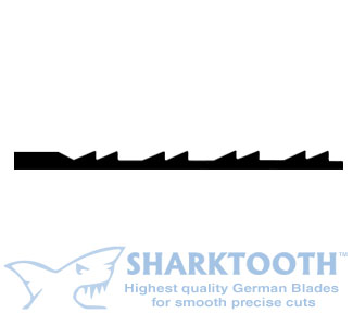 SHARKTOOTH <BR> Scroll Saw Blades <br>Doubletooth - Plain End