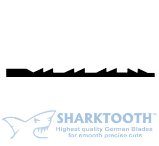 SHARKTOOTH <BR>Scroll Saw Blades <br>Double Reverse - Plain End