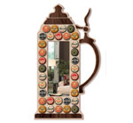 Stein Mirror Bottle Cap Display Pattern