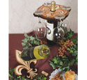Fleur-de-Lis Table Wine Set Pattern