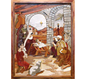 The Nativity Intarsia Pattern