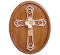 Compound Cut Blossom Cross Plaque Pattern