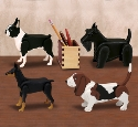 Miniature Desk Dogs Pattern Set 3