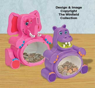 Fat Elephant & Hippo Bank Pattern