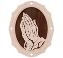 Praying Hands Frame-N-Art Scroll Design