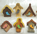 Whimsy Birdhouse Ornaments Set 1 Project Pattern