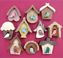 Whimsy Birdhouse Ornaments Set 2 Project Pattern