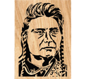 Chief Joseph Scrolled Portrait Art Pattern