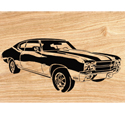 1970 Chevelle SS Scrolled Wall Art Pattern