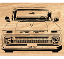 1964 Chevy Truck Scrolled Wall Art Pattern
