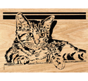 Good Kitty Scrolled Portrait Art Pattern