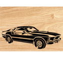 1969 Mach I Mustang Scrolled Wall Art Pattern