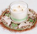 Angels & Shamrocks Candle Ring Pattern