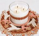 Hummingbirds Candle Ring Project Pattern