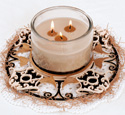 Birdhouses Candle Ring Project Pattern
