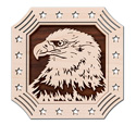 Patriotic Eagle Frame-N-Art Scroll Design