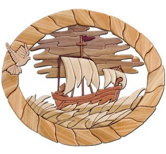 Paul's Voyage to Rome Intarsia Pattern