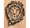 Blazing Lion Scrolled Art Pattern
