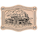 Locomotive Frame-N-Art Scroll Design