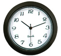 Quartz Mini Clock Black/White