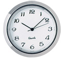 Quartz Mini Clock Silver/White