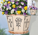 Classic Crosses Hanging Basket Pattern