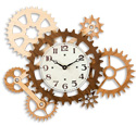 Gears of Time Wall Clock Pattern