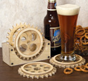Gear Coaster Set Patterns