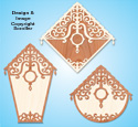 Filigree Overlay Birdhouse Designs Pattern
