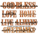 Scrolled Art Wall Plaques Pattern Set