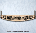 Bear Crosscut Saw Wall Art Pattern