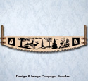 Deer Crosscut Saw Wall Art Pattern