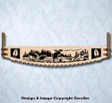 Moose Crosscut Saw Wall Art Pattern