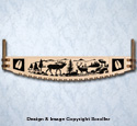 Elk Crosscut Saw Wall Art Pattern