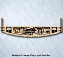 Covered Bridge Crosscut Saw Wall Art Pattern