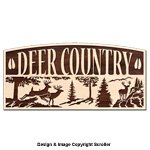 Deer Country Rustic Wall Art Pattern