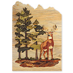 Wilderness Deer Intarsia Design Pattern