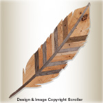 GIANT Pallet Wood Feather Wall Decor Pattern