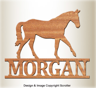 Equine Wall Plaque Design Pattern