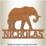Elephant Wall Plaque Design Pattern