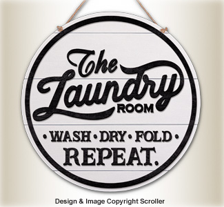 Vintage Laundry Room Wall Art Design Pattern
