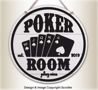 Vintage Poker Room Wall Art Design Pattern